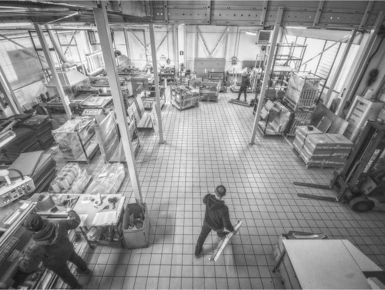 Stampa di carpenterie metalliche industriali