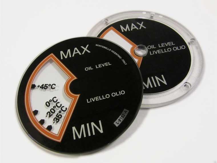 Stampa di dischi in vetro e policarbonato