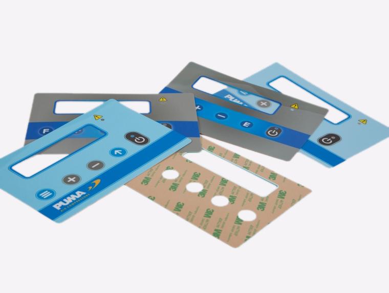 Produzione di tastiere di membrana adesive